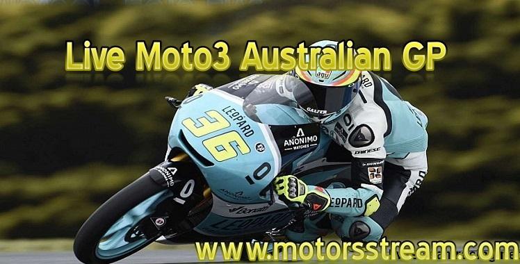 Live Moto3 Race Australian GP