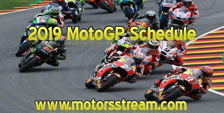2019 MotoGP Schedule