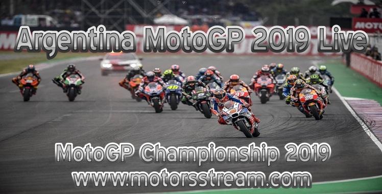 Argentina MotoGP 2019 Live stream