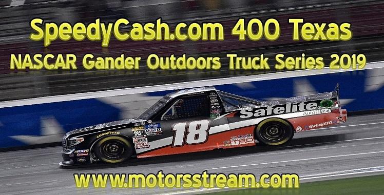 SpeedyCashCom 400 Live Stream Texas NASCAR Truck Series