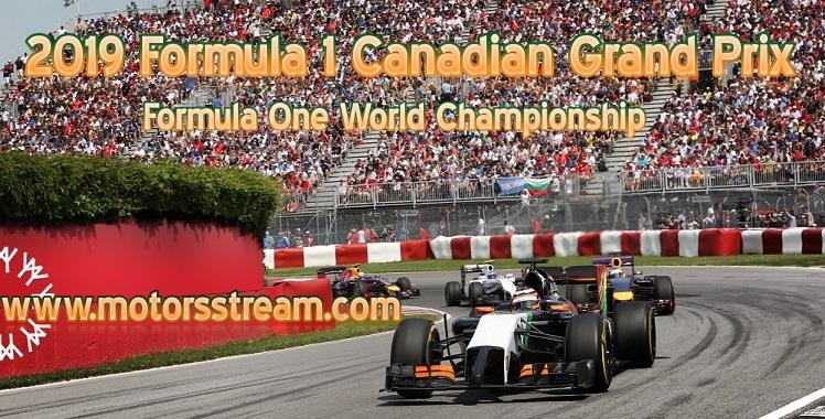 Formula 1 Canadian Grand Prix Live Stream