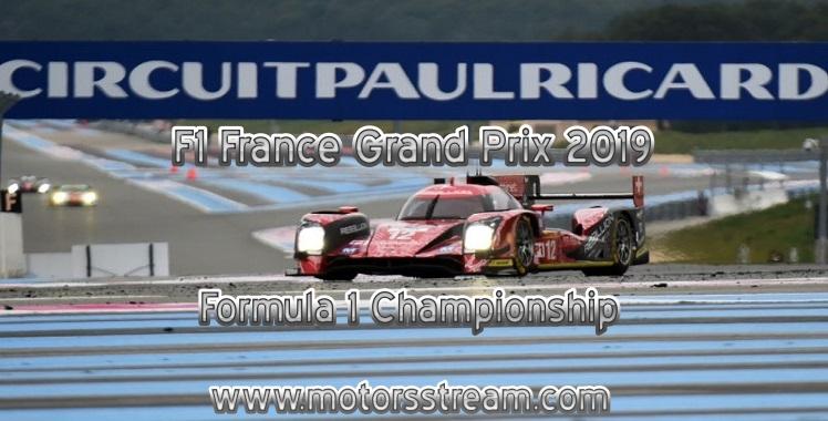 Formula 1 France Grand Prix Live Stream