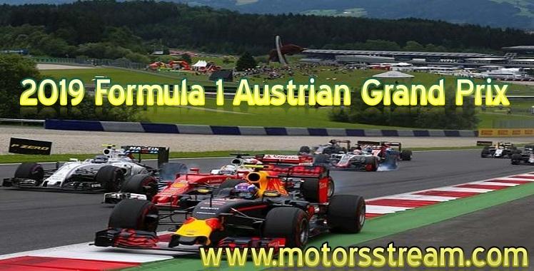 Formula 1 Austrian Grand Prix Live Stream