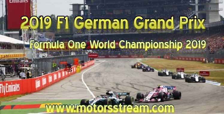 Formula 1 German Grand Prix Live Stream