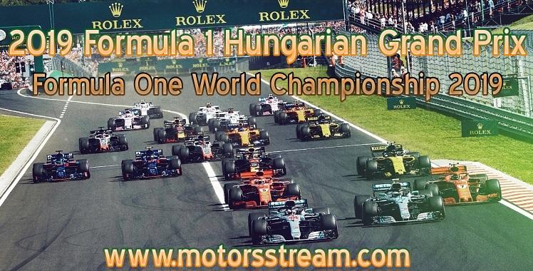 Formula 1 Hungarian Grand Prix Live Stream
