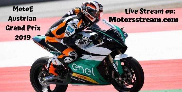MotoE Austrian Grand Prix Live Stream