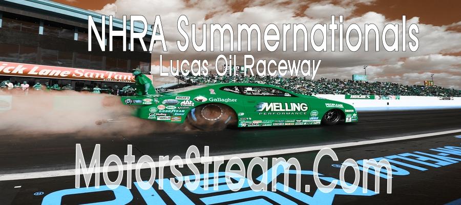 NHRA Summernationals Indianapolis Live Stream Racing