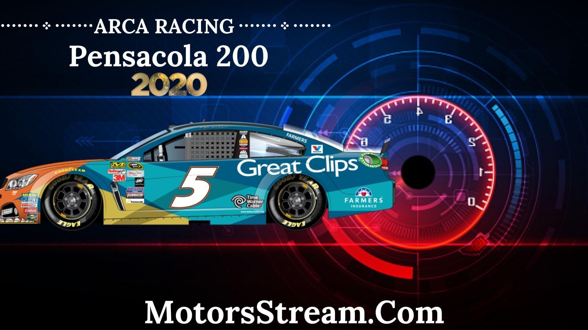 Pensacola 200 ARCA Menards Series Live Stream