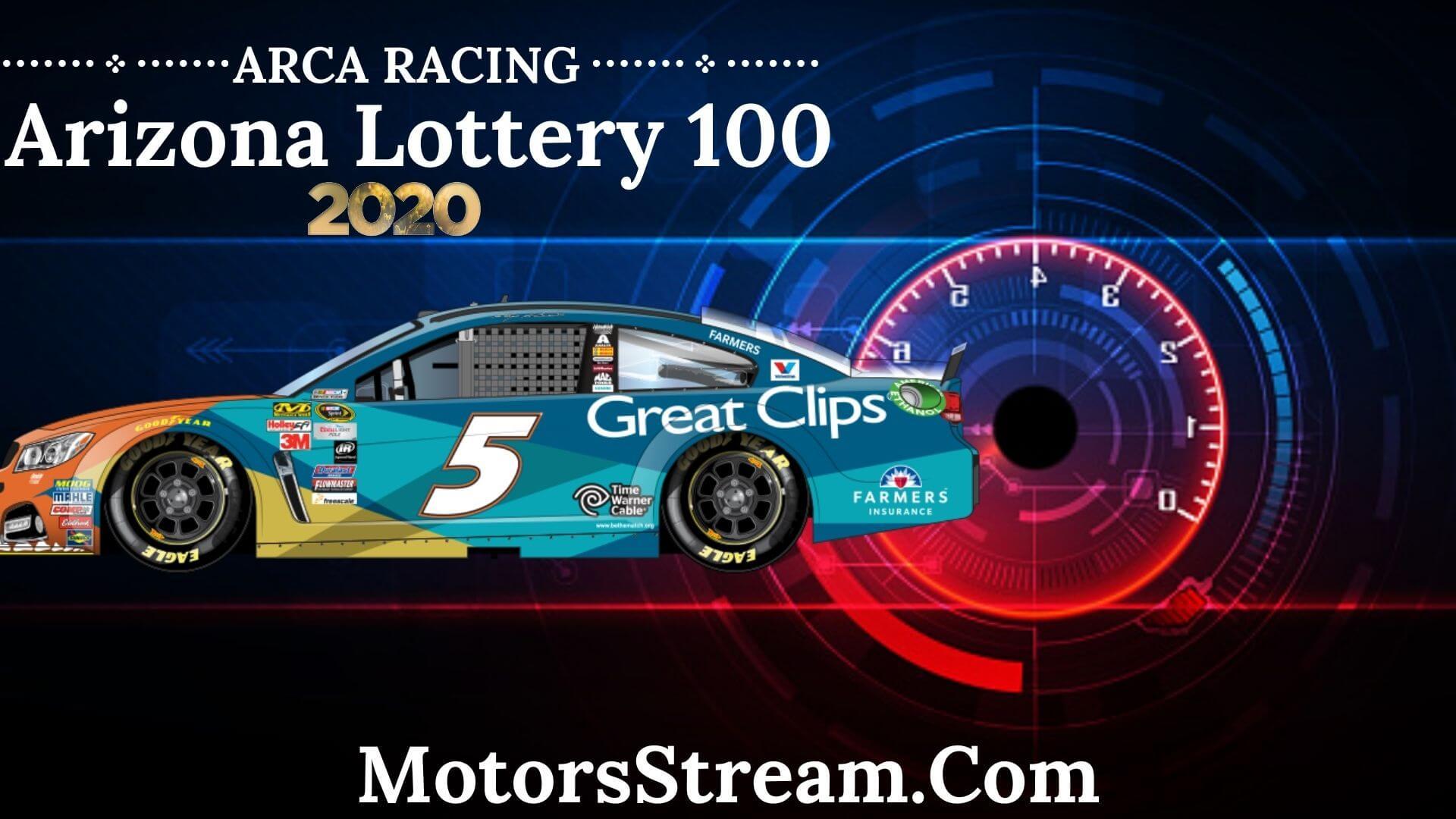 Arizona Lottery 100 Live Stream ARCA Menards Series West