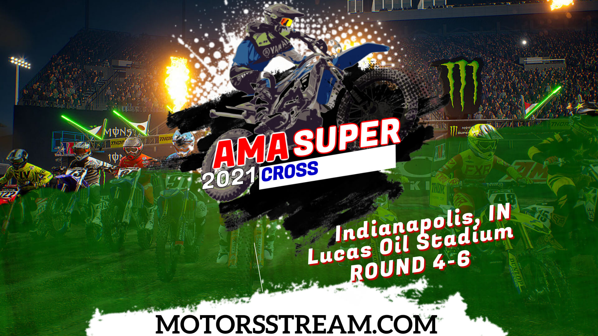 Supercross Indianapolis, IN Round 4 Live 2021 | Full Race Replay
