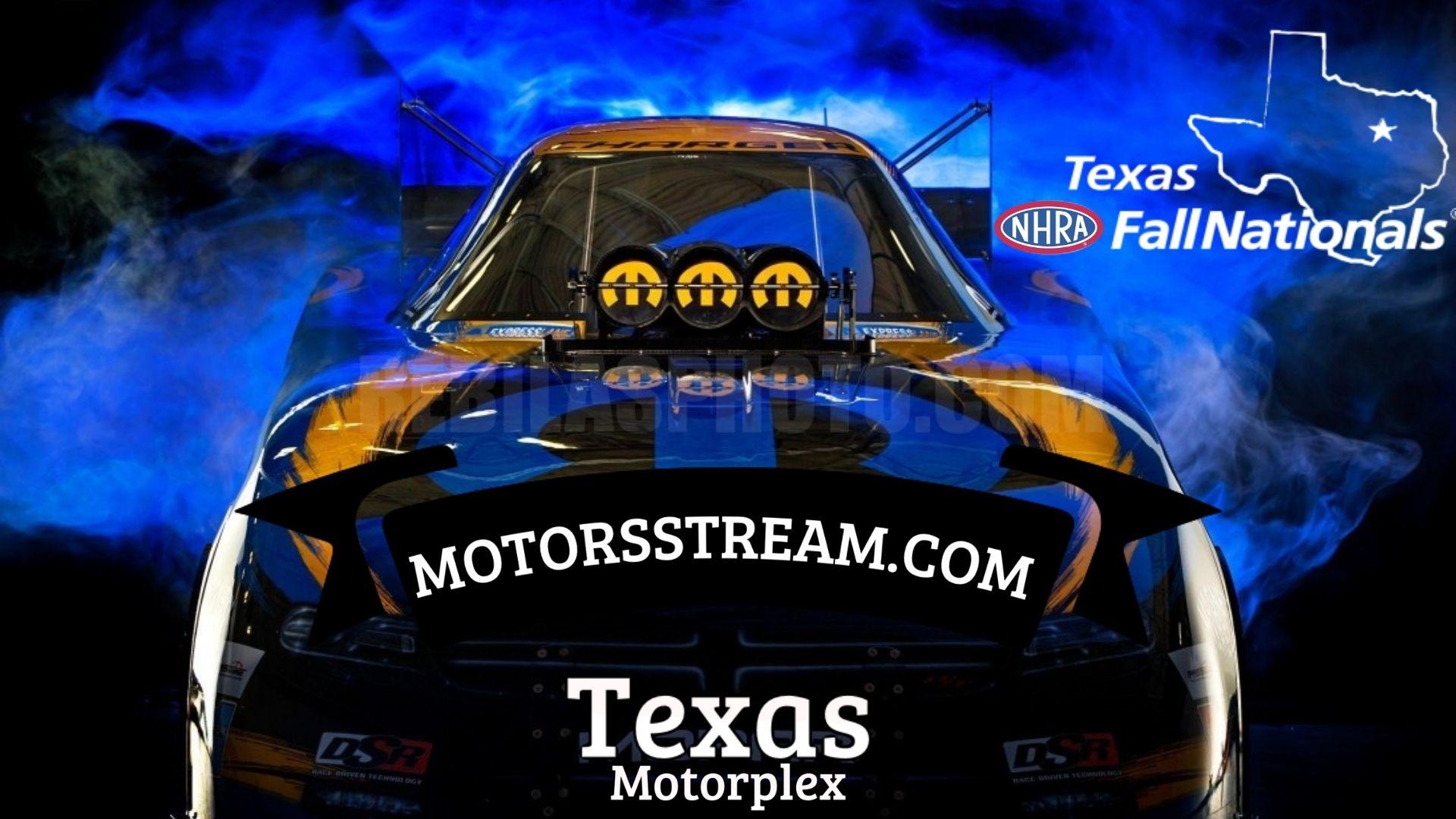 Texas NHRA FallNationals 2021 Live Stream
