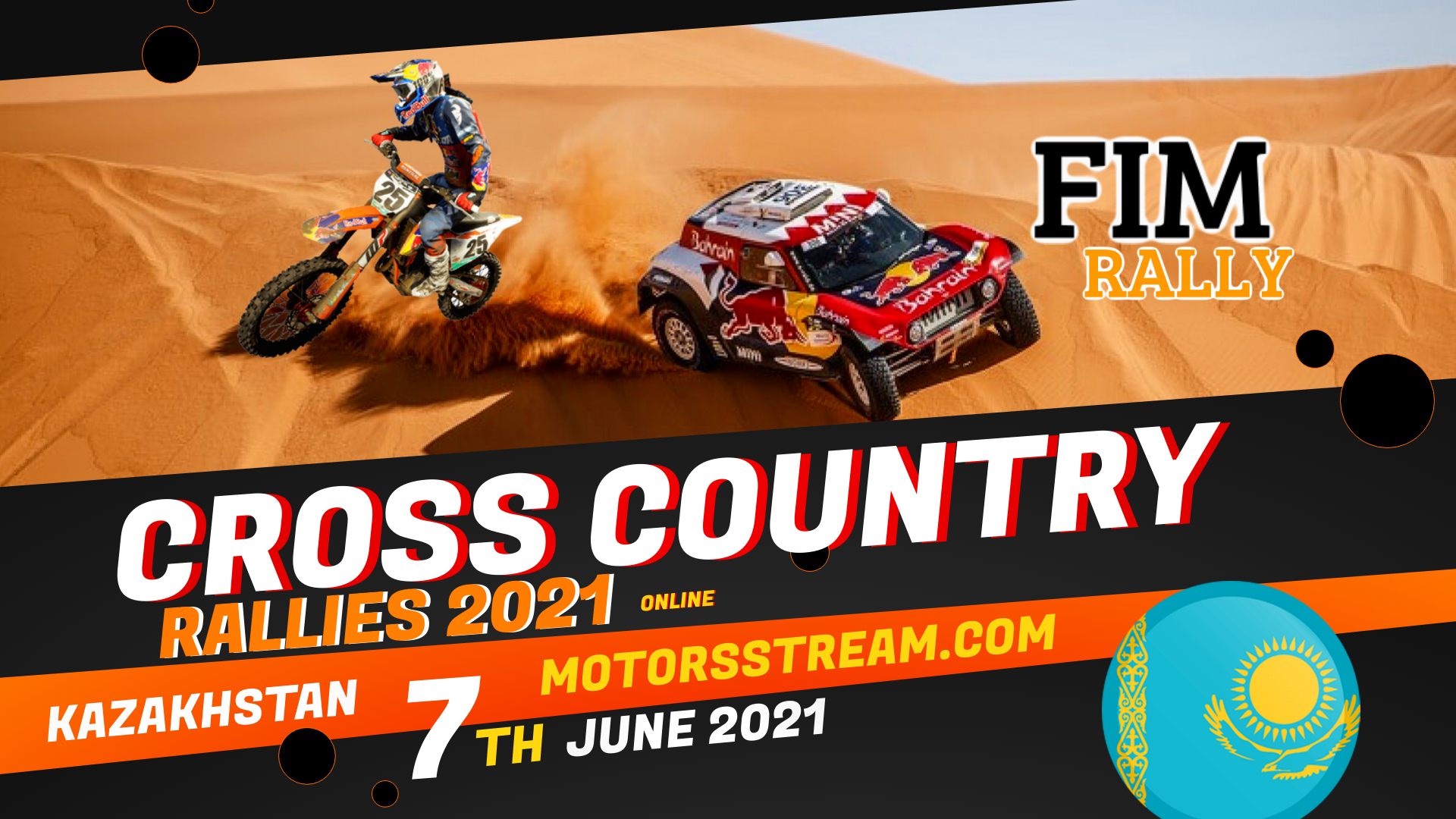 Kazakhstan Cross Country Rallies Live Stream 2021