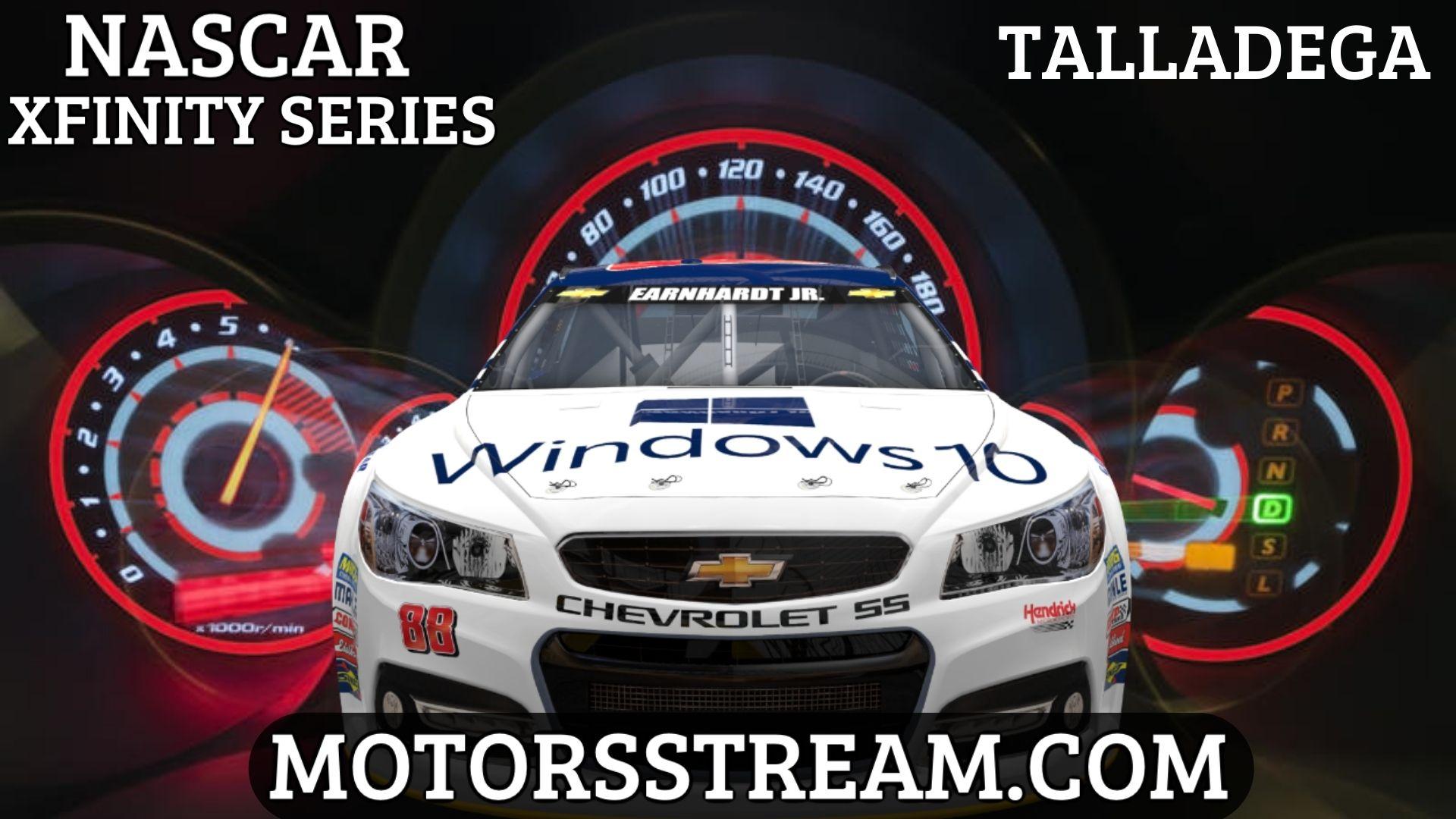 NASCAR Xfinity Series Talladega Live Stream