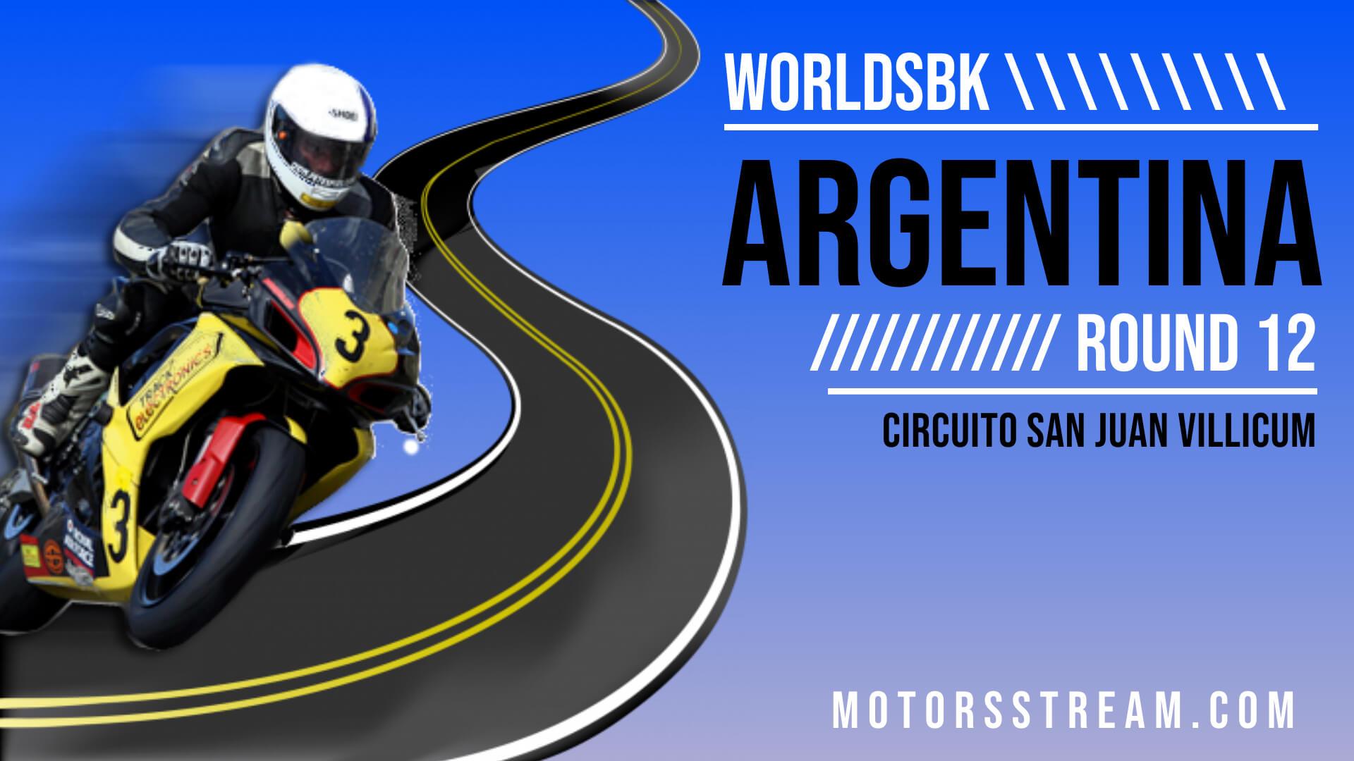 Argentina WSBK Round 12 Live Stream