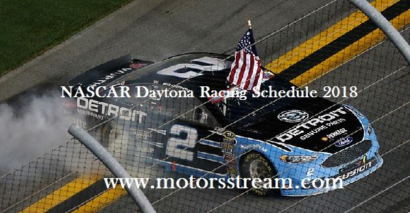 NASCAR Daytona Racing Schedule 2018