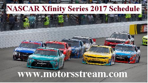 NASCAR Xfinity Series 2017 Schedule