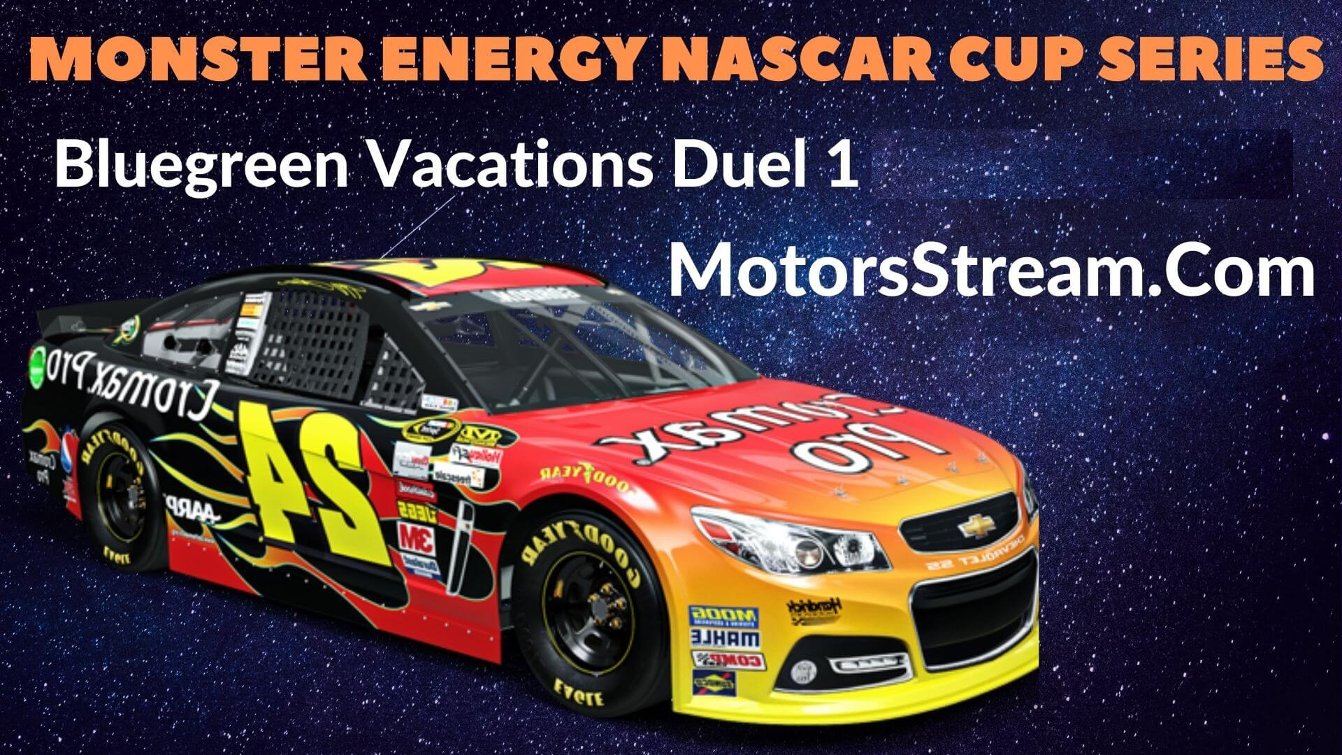 Bluegreen Vacations Duel 1 Live Stream   NASCAR CUP 2020