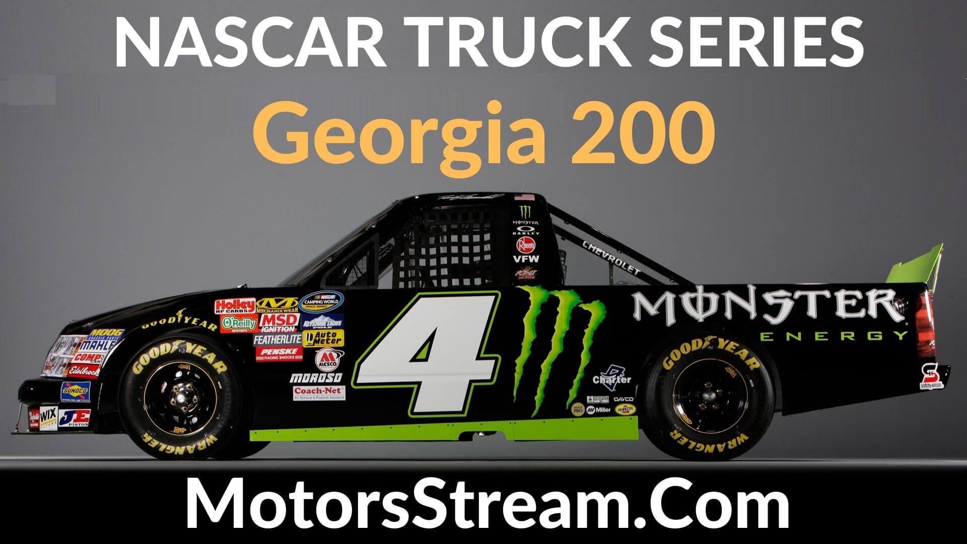 Georgia 200 Live Stream   Nascar Truck Series 2020