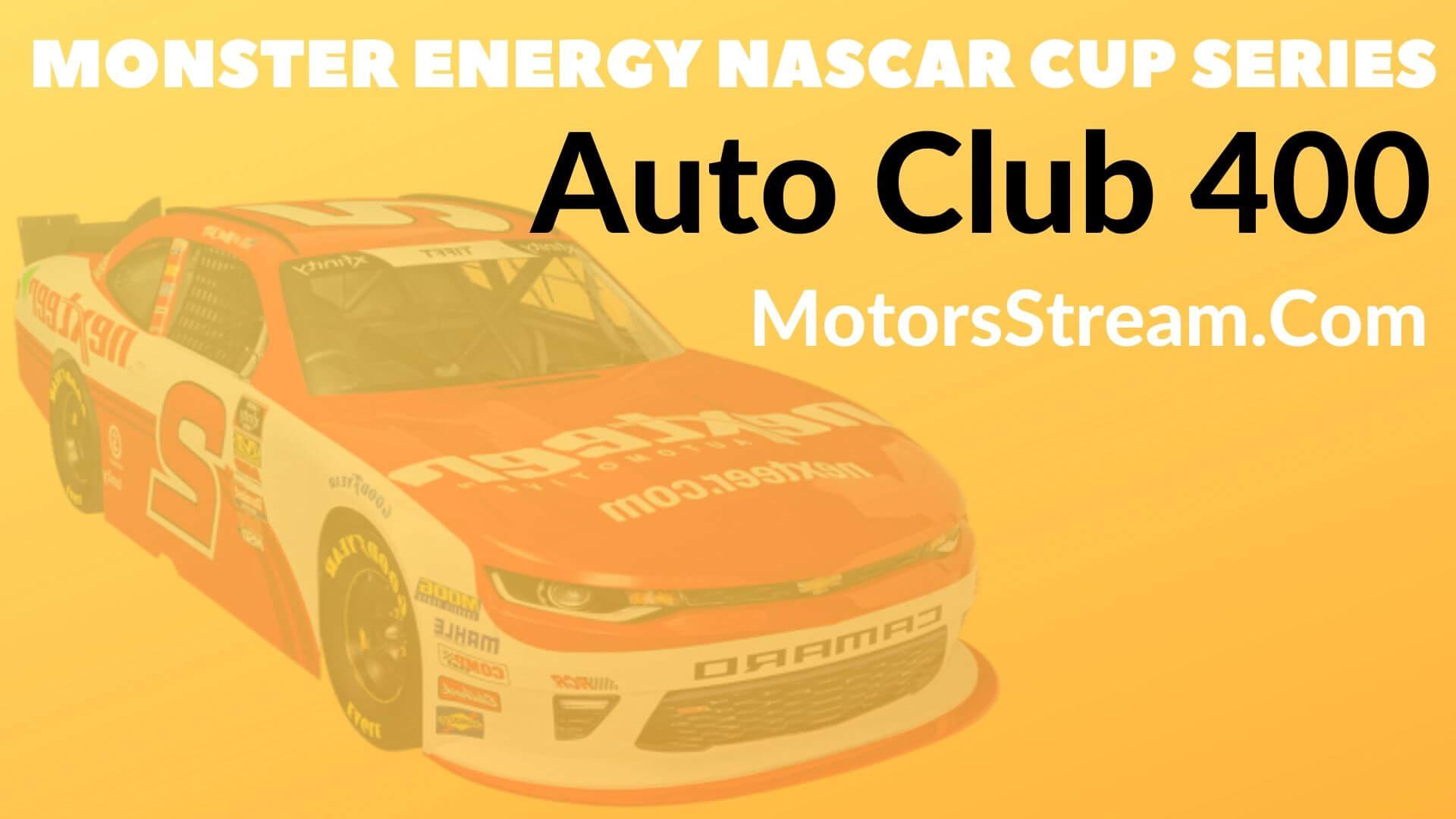 Auto Club 400 Live Stream   NASCAR CUP 2020