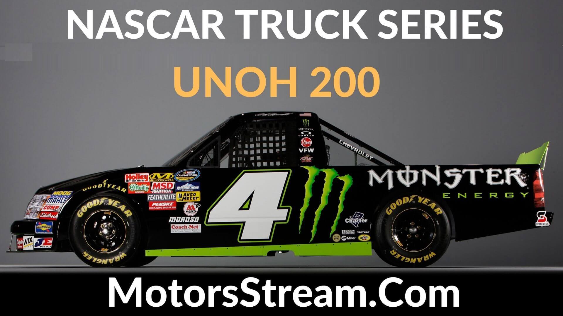 UNOH 200 Live Stream   Nascar Truck Series 2020