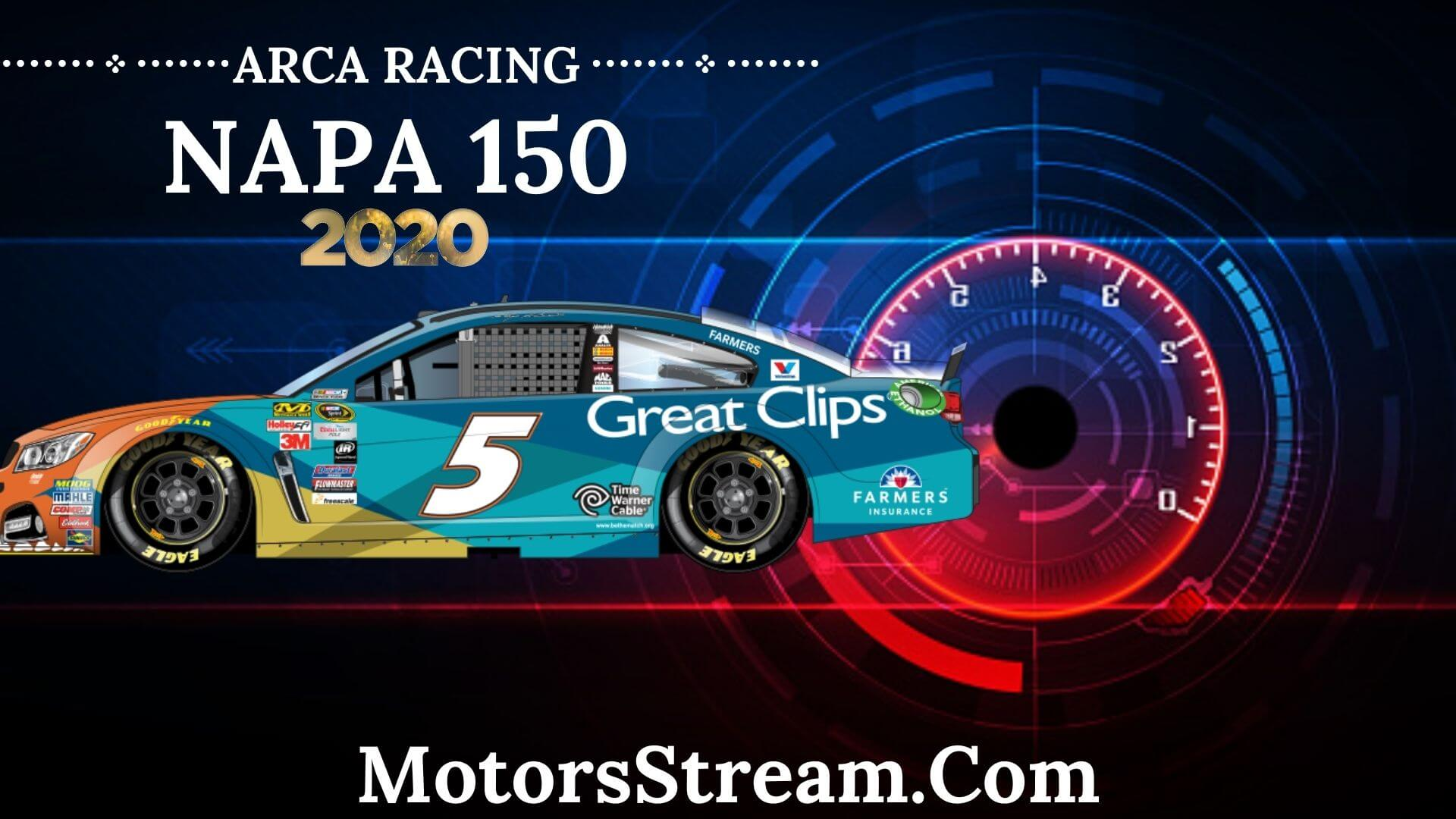 Napa Auto Parts 125 Live Stream 2020 Arca Racing