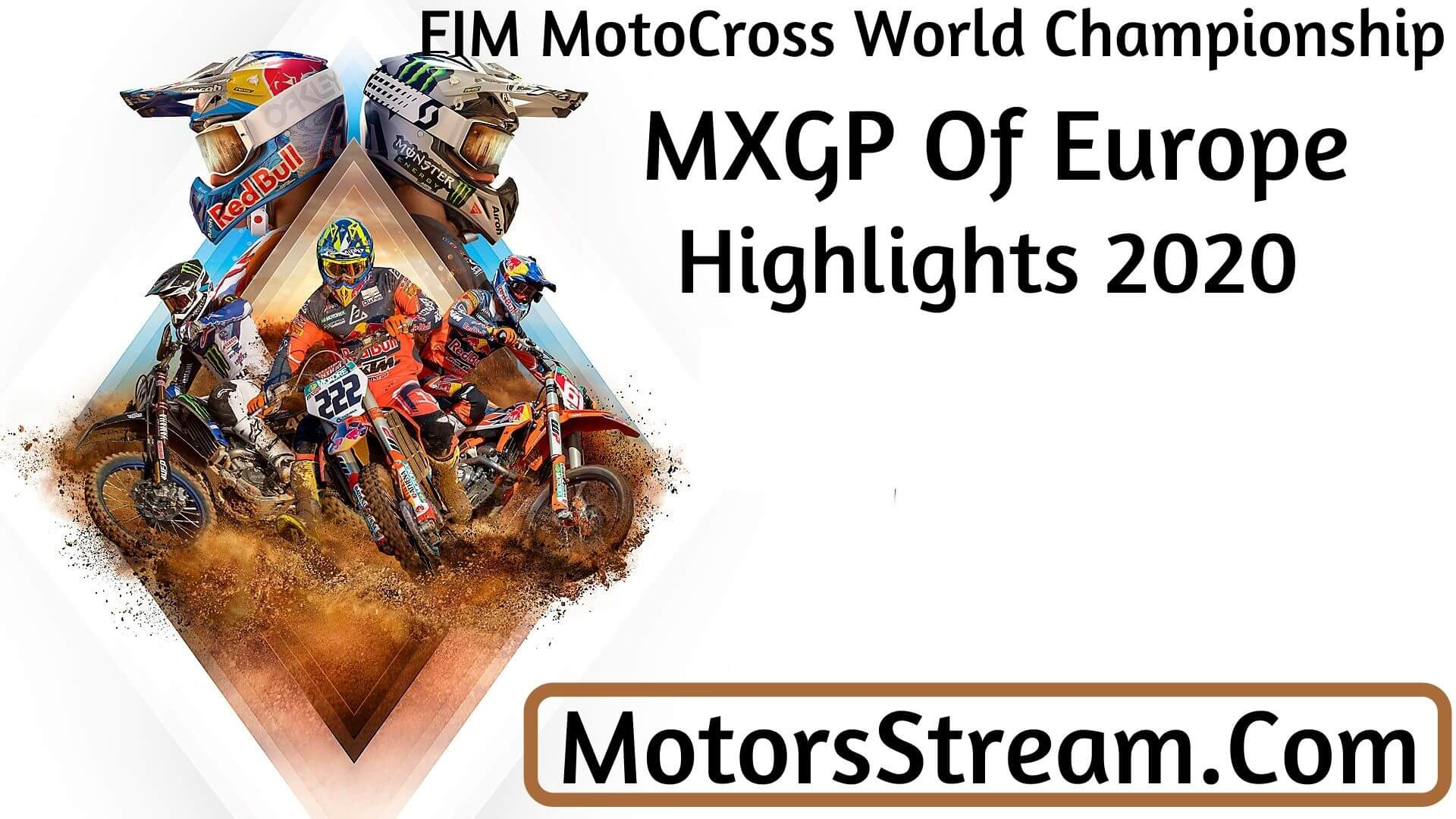 MXGP Of Europe Highlights 2020