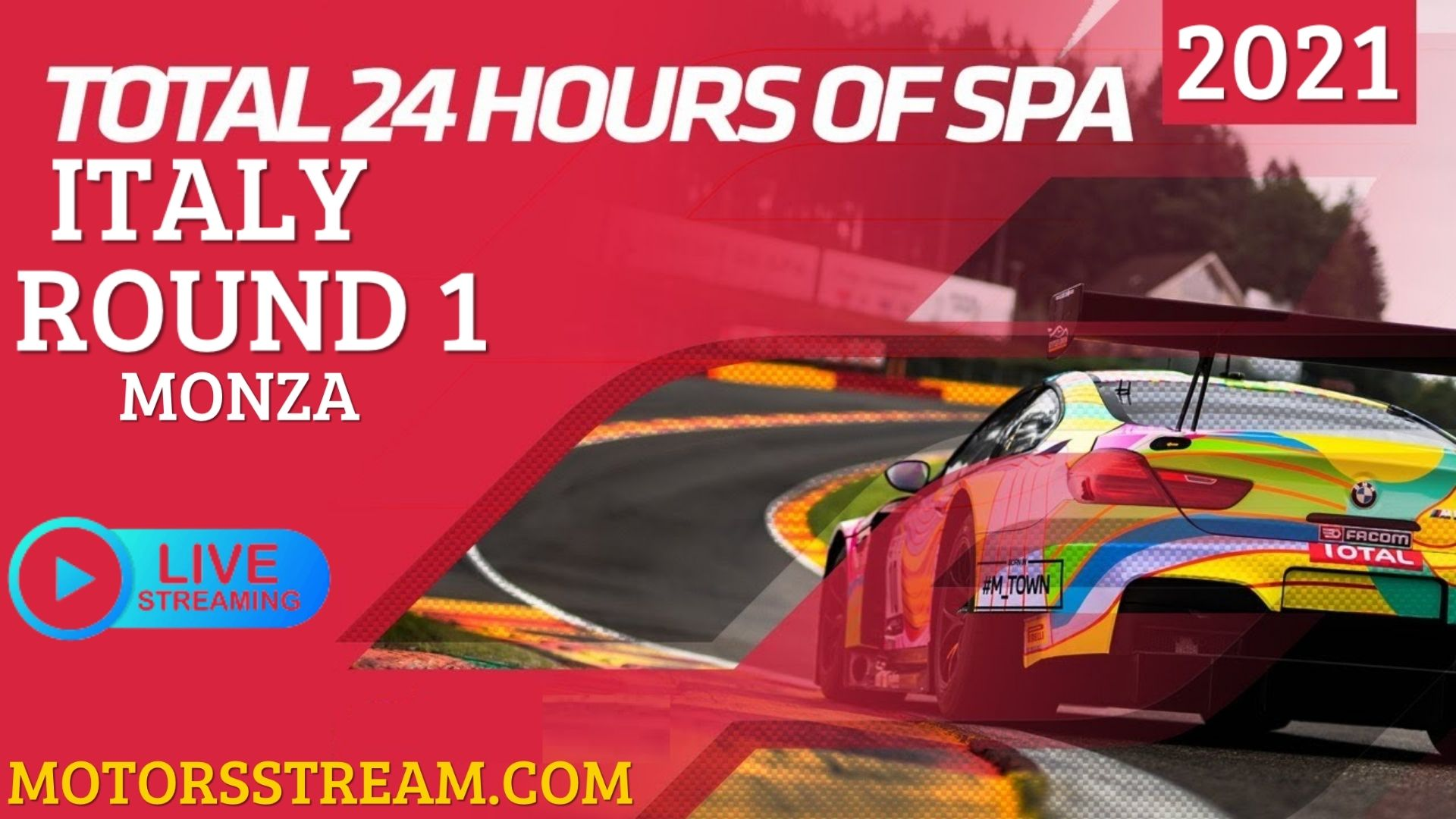 24 Hours Of Spa Monza Live Stream 2021 | Round 1