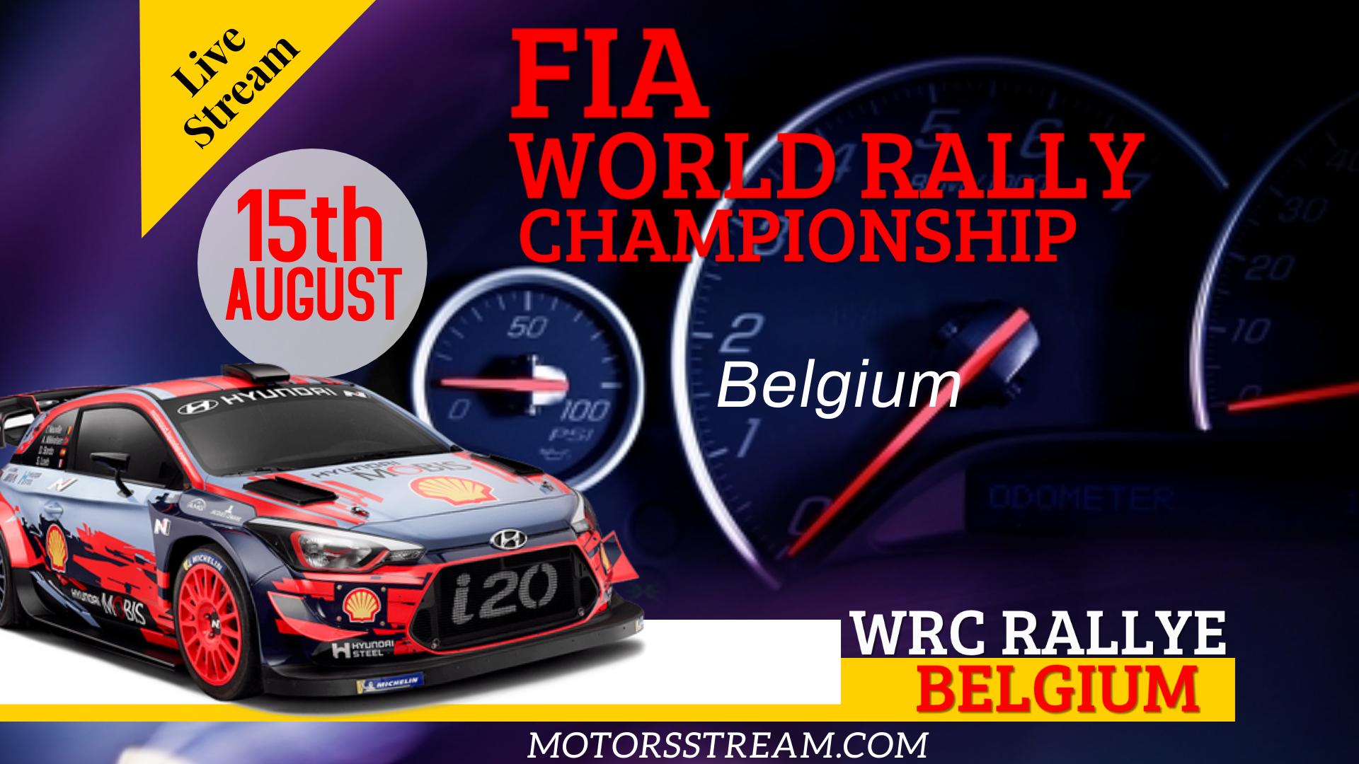 Rally Belgium WRC Live Stream 2021 | Round 9