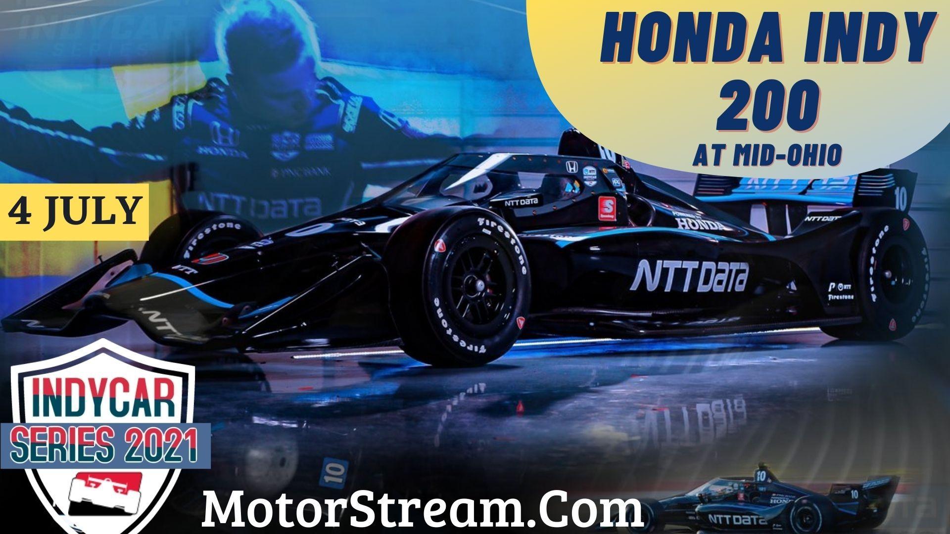Honda Indy 200 at Mid-Ohio Live Stream 2021
