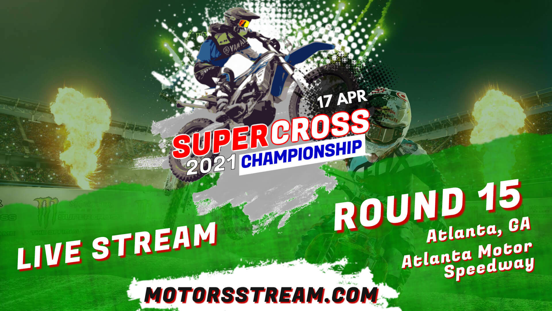 Supercross Atlanta Round 15 Live 2021 | Full Race Replay