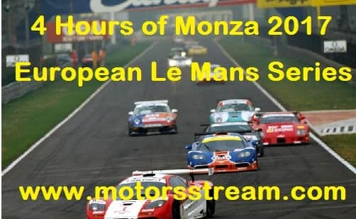 4 Hours of Monza 2017 live