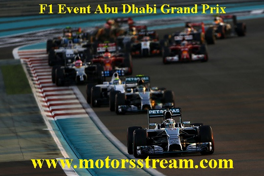 Live Abu Dhabi F1 Grand Prix Streaming