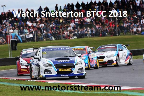 Watch Snetterton BTCC 2018