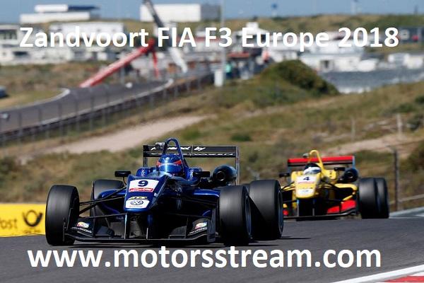 Watch Zandvoort FIA F3 Europe 2018
