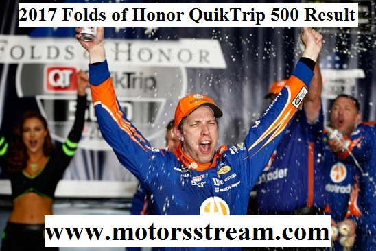 2017 Folds of Honor QuikTrip 500 Result