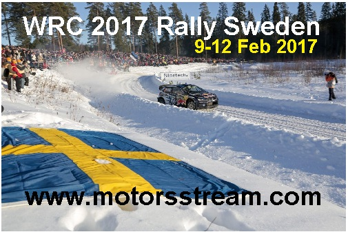 WRC 2017 Rally Sweden live