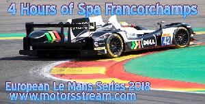 Live streaming 4 Hours of Spa Francorchamps